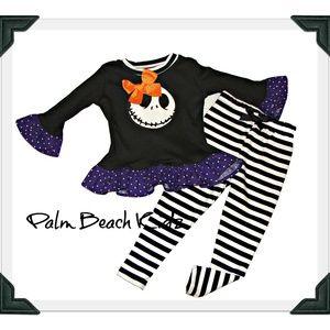 Halloween Jack Skellington Pant Set